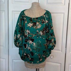 Tops - Stunning Emerald Print Blouse